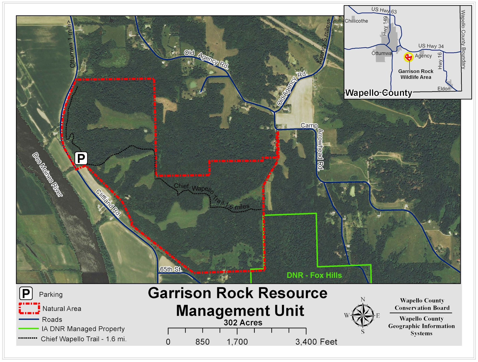 Garrison Rock Resource Management Map