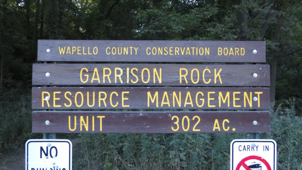 Garrison Rock Resource Management Sign