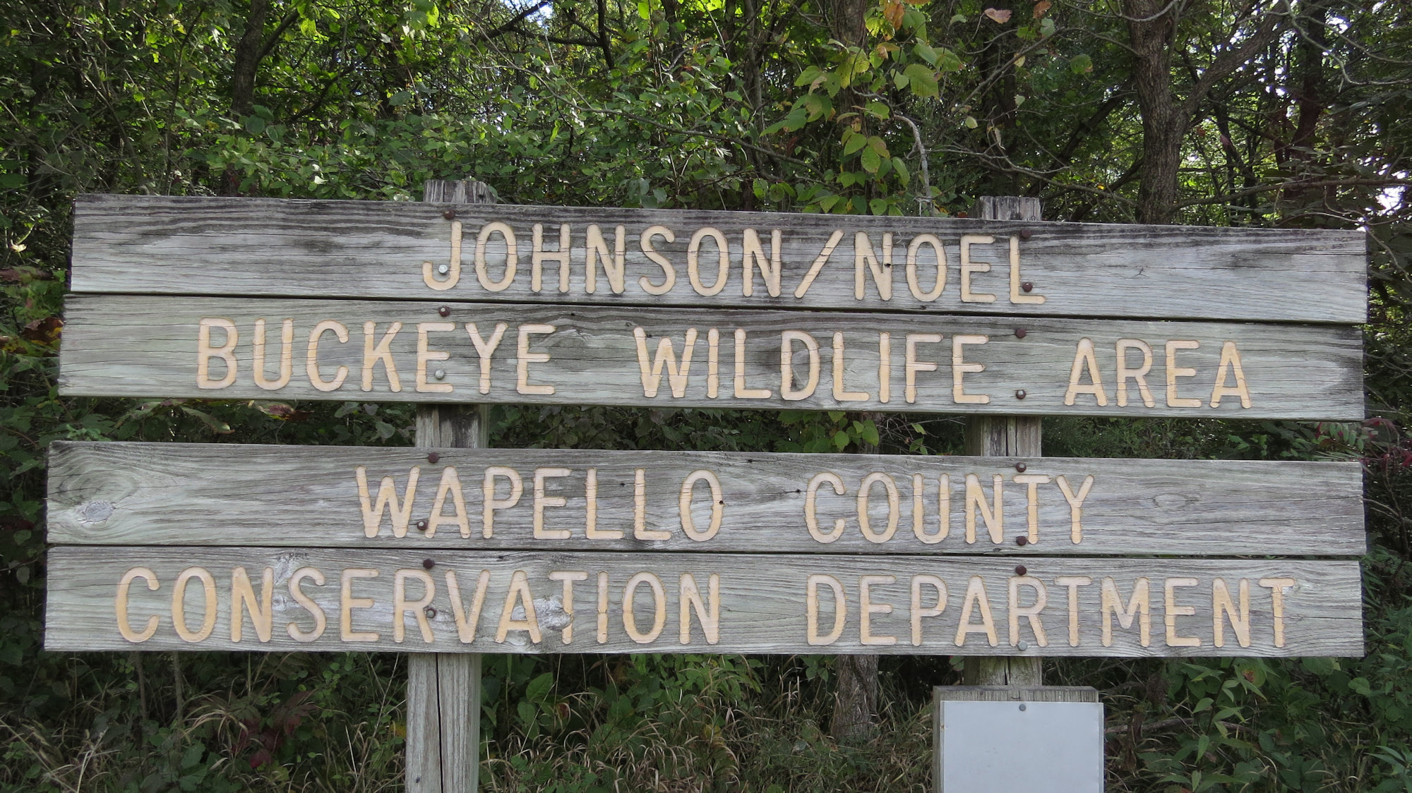 Johns-Noel Buckeye sign
