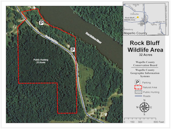 Rock Bluff Wildlife Area Map