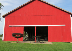 Haybarn Front View