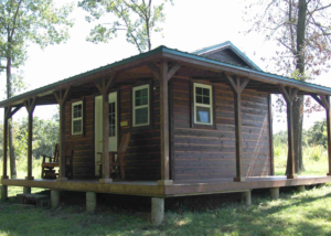 west camping cabin